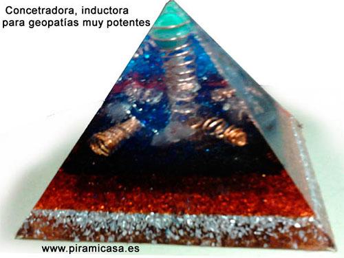 Pirâmide de concentração, indutor de geopatias muito poderosas